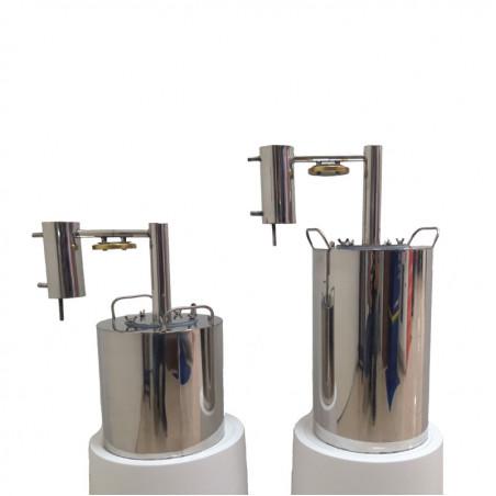 Перегонный куб Люкссталь (Luxstahl) Абсолют 25 литров (кламп 1.5 дюйма) с краном под ТЭН
