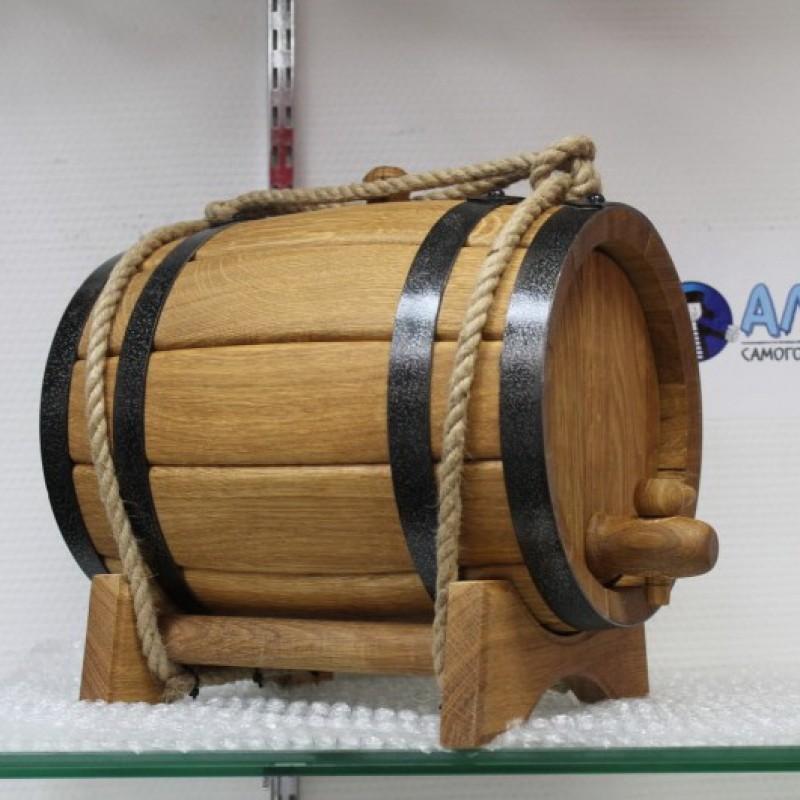 Бочка фирменная АЛКАШ 10 литров на подставке с краном