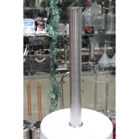 Царга 50 см (пустая) Алкаш под кламп 1.5 дюйма (38 мм) для самогонного аппарата