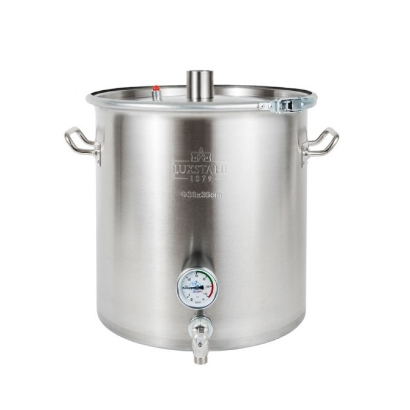 Перегонный куб Люкссталь (Luxstahl) Абсолют 20 литров (кламп 1.5 дюйма) с краном