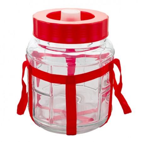 """Банка стеклянная 9 литров для брожения  """"Оптимум"""" с пластиковой крышкой"""