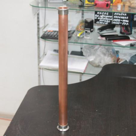 Царга медная 50 см (пустая) Алкаш под кламп 1.5 дюйма (38 мм) для самогонного аппарата