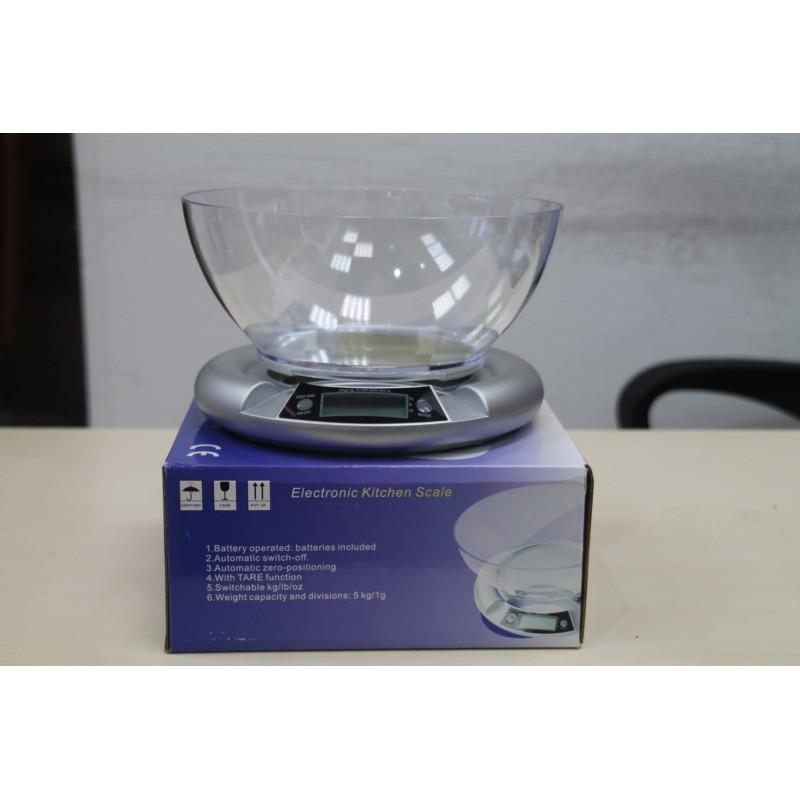 Весы электронные с чашкой (до 5 кг, кратность 1 гр.)