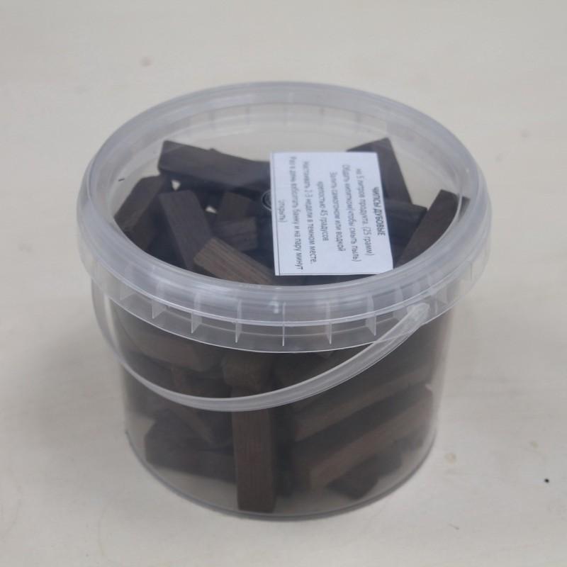 Брусочки из Кавказского дуба скальных пород (средний обжиг)(350 грамм)