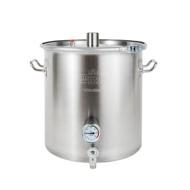 Перегонный куб Люкссталь (Luxstahl) Абсолют 37 литров (кламп 1.5 дюйма) с краном