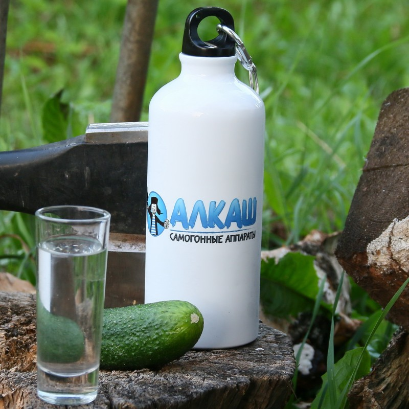 Алюминевая бутылочка ТМ АЛКАШ (600 мл)