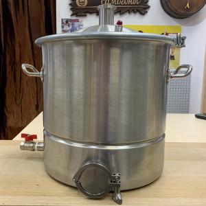Перегонный куб АЛКАШ 25 литров кламп 1,5 под ТЭН с зиговкой с купольной крышкой