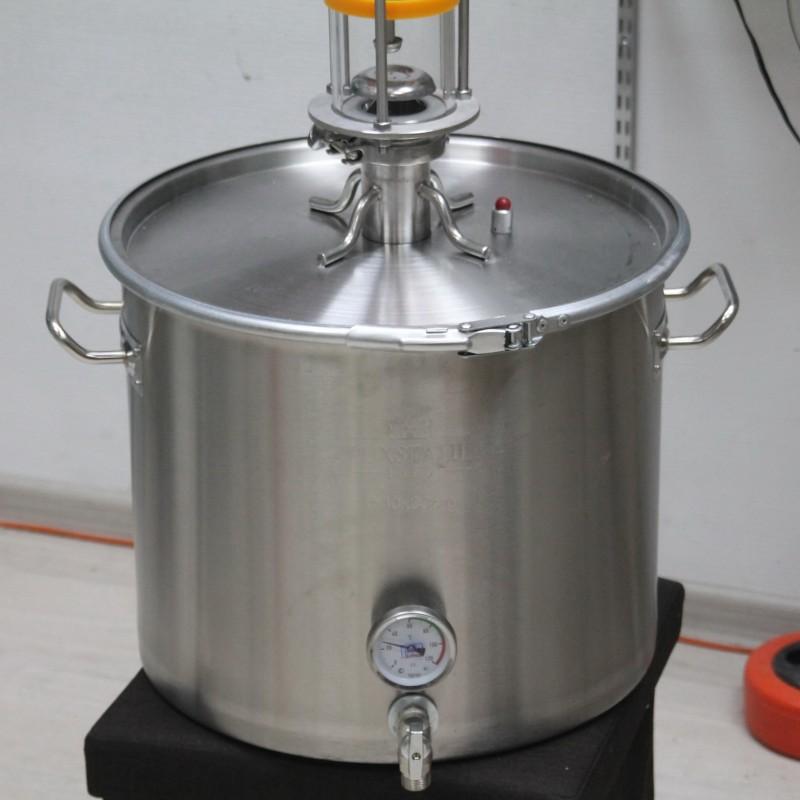 Купить самогонный аппарат двойной перегонки Алкаш Platinum (Платинум) (дистиллятор): 37, 50 литров