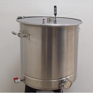 Перегонный куб АЛКАШ 70 литров кламп 2 под ТЭН с зиговкой со стальной крышкой
