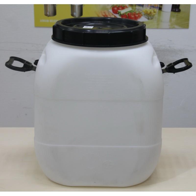 Бидон АЛКАШ белый пластиковый 50 литров
