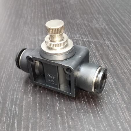 Кран игольчатый Push 10 мм тонкой настройки (для дефлегматора) для самогонных аппаратов