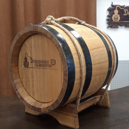 Бочка фирменная АЛКАШ(ПРЕМИУМ) 10 литров на подставке