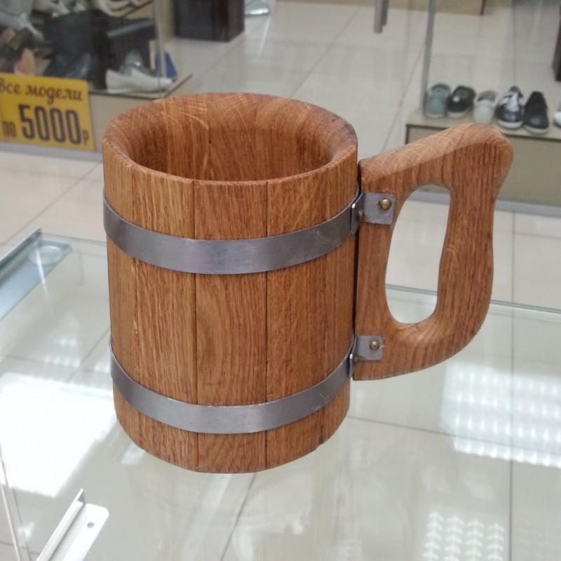 Кружка деревянная (дубовая) 0.5 л для пива и кваса
