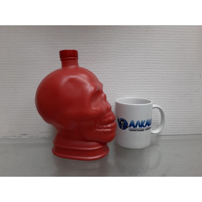 Бутылка череп 1 литр в ассортименте