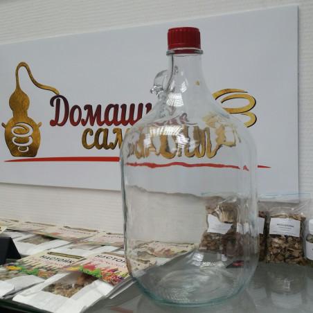 """Бутыль стеклянная 5 литров """"Виноград"""" для алкогольных и спиртных напитков"""