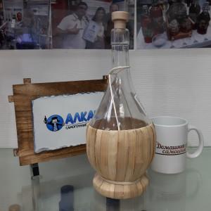 Бутыль «Фиаско» 1 л в оплетке