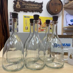 Набор бутылок Бэлл 1 л с пробками (6 шт)