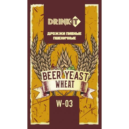 Дрожжи пивные для пшеничного W-03 ТМ DRINKIT, 12гр
