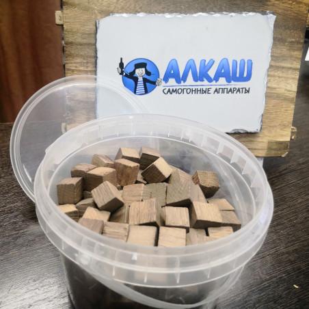 Дубовые кубики для настаивания самогона (средний обжиг), 15x15 мм, 400 гр