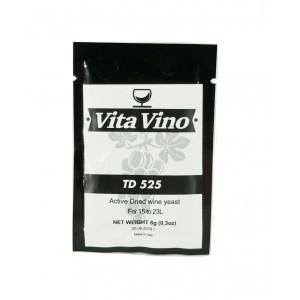 Дрожжи винные Vita Vino TD-525, 8 гр (для приготовления крепких вин из винограда и ягод)