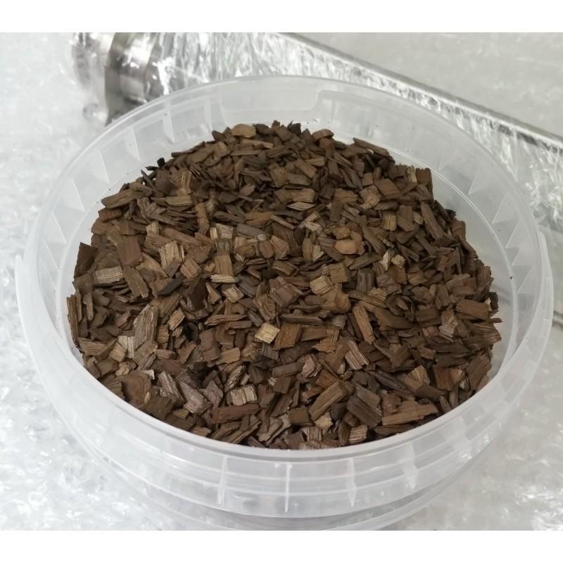 Дубовые чипсы для настаивания самогона (сильный обжиг), на 30 л, 250 гр