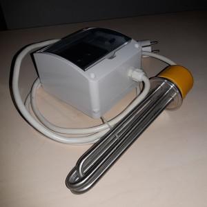 ТЭН АЛКАШ на 3 кВт с плавной цифровой регулировкой под кламп 2