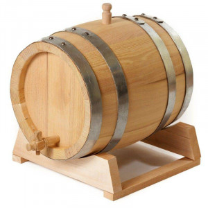 Бочка СЕРБСКАЯ 5 литров на подставке с краном из славонского дуба
