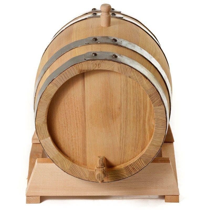 Бочка дубовая 10 л на подставке с краном (Сербия) (Oak)