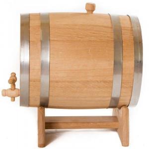 Бочка дубовая с подставкой 10 литров