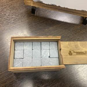 """Камни для ВИСКИ ручной работы в ручном коробе """"Домашние самогоны"""""""