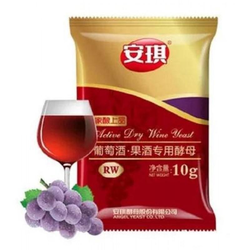 Дрожжи винные Angel RW, 10 гр (для красных вин)