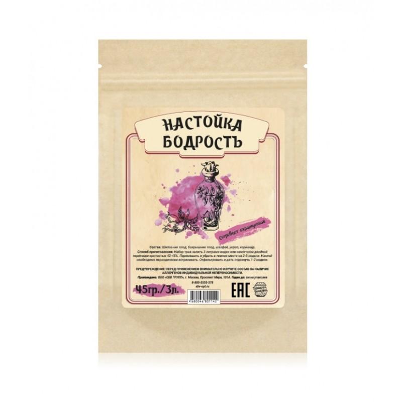 Настойка Домашняя винокурня «Бодрость», 45 гр