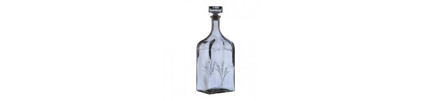 Стеклянные бутылки, бутыли, графины, фляги для алкогольных и спиртных напитков
