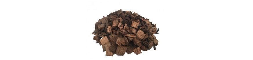 Дубовая щепа (чипсы, кубики, кора) для настаивания самогона, коньяка, виски, настоек, спирта