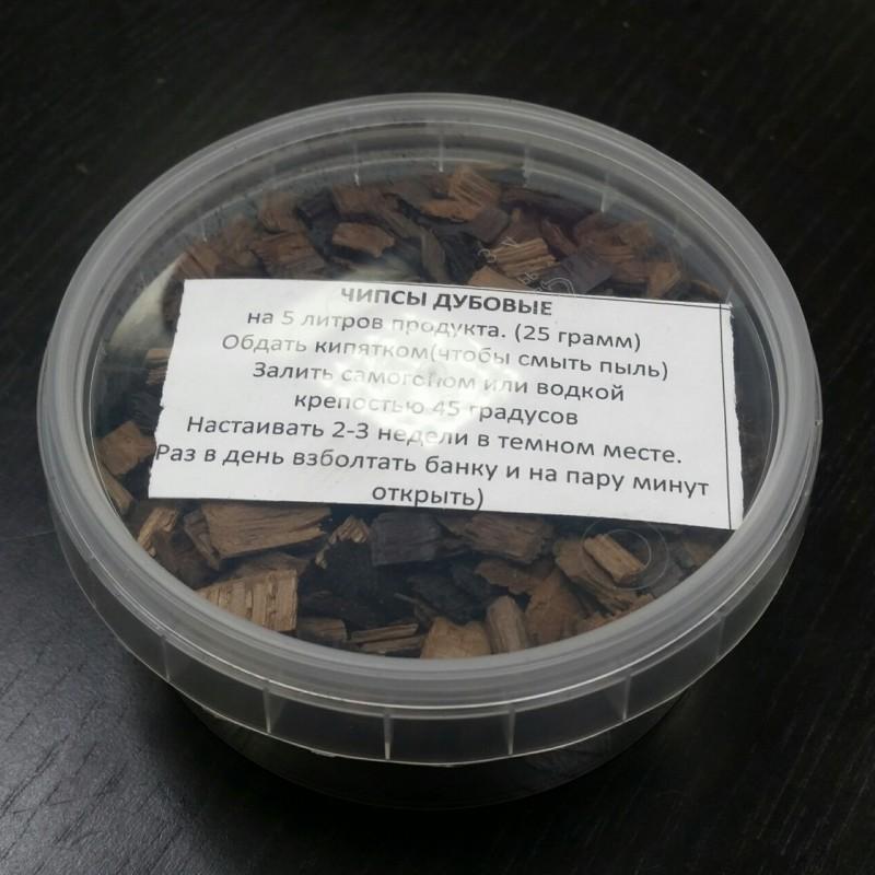 Дубовые чипсы (средний обжиг), 80 грамм