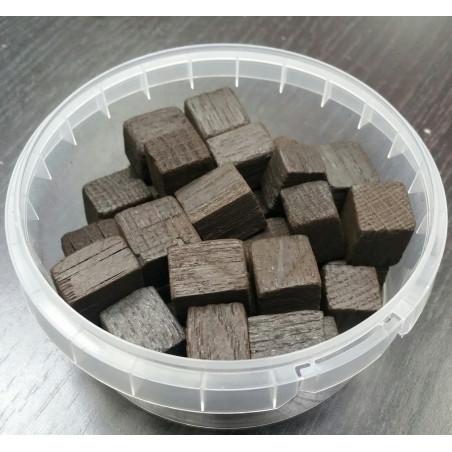 Дубовые кубики для настаивания самогона (сильный обжиг), 15x15 мм, 100 гр
