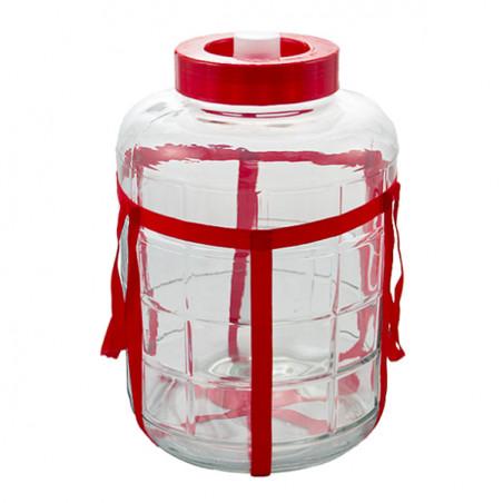 """Банка стеклянная 18 литров для брожения  """"Оптимум"""" с пластиковой крышкой"""