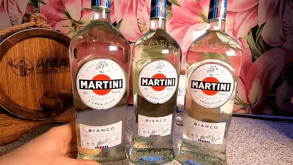 Бутылки Мартини Бьянко
