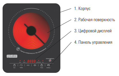 Устройство галогенной плиты Iplate H22